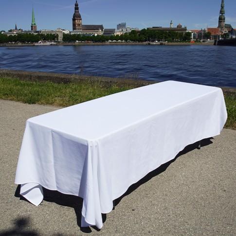 Saliekams furšeta galds | ar lielo galdautu, 240 cm | noma