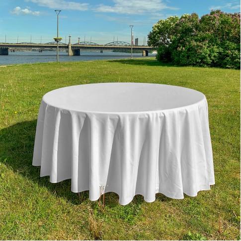 Apaļš saliekamais galds 9 personām | ar galdautu, 150 cm