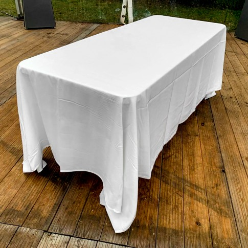 Saliekams furšeta galds | ar lielo galdautu, 240 cm