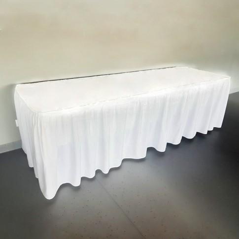 Saliekams furšeta galds | ar galdautu un brunčiem, 240 cm | noma