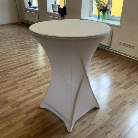 Saliekams bāra stāvgalds | ar zeķes tipa galdautu, 81 cm