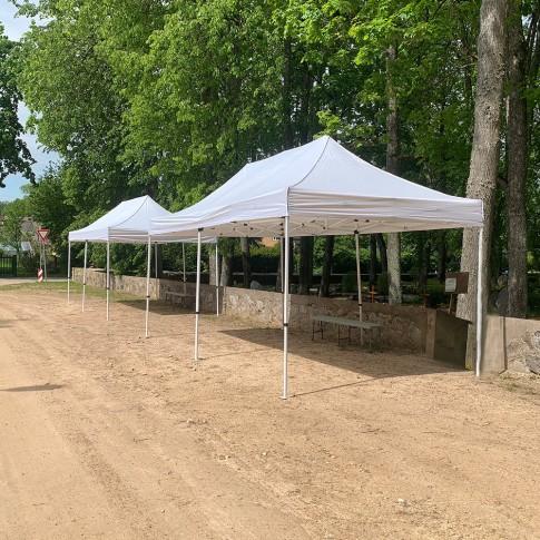 Telts - nojume | balta, 3×6 m | noma