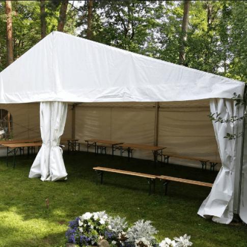Lielā pasākumu telts (ar montāžu/demontāžu) | noma